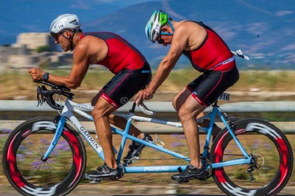 Μαθήματα ζωής από τον τυφλό αθλητή Χρήστο Κορομηλά στο Tyros Triathlon 2018