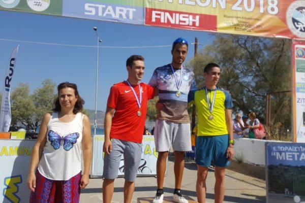 Δημόπουλος και Μπουλμέτη πρωταθλητές Ελλάδας στο τρίαθλο