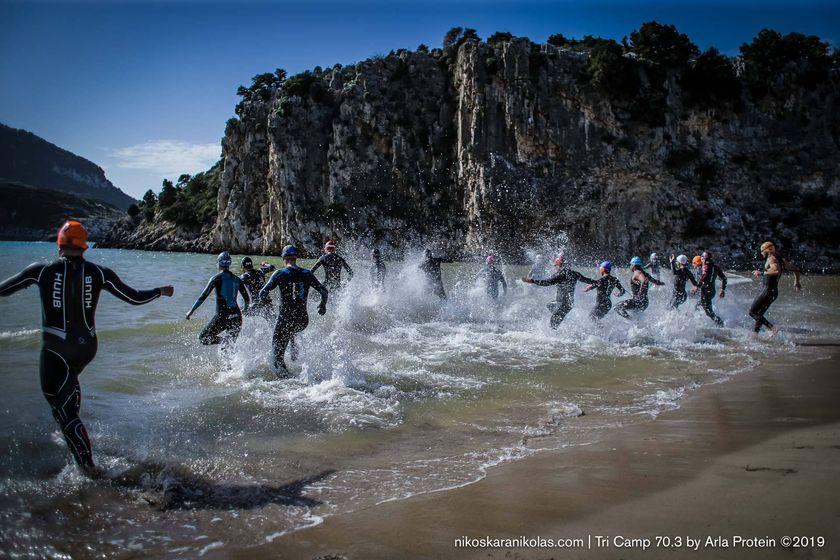 Tri Camp 70.3 από το Arla Protein-Σαββατοκύριακο στην Μεσσηνία για προπόνηση Τριάθλου