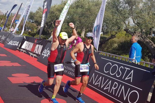 Ο τυφλός αθλητής Χρήστος Κορομηλάς ολοκλήρωσε το IRONMAN 70.3 Greece
