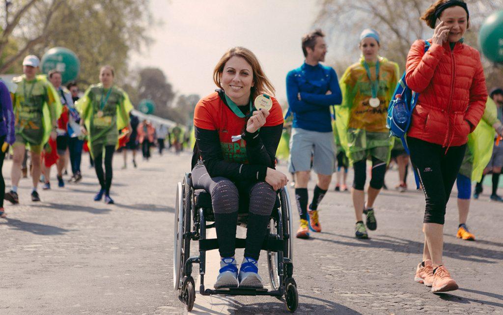 Συγκίνησε η Κέλλυ Λουφάκη με τον τερματισμό της στο Μαραθώνιο του Παρισίου