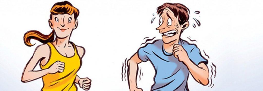 Γιατί οι άντρες επιταχύνουν όταν τρέχουν δίπλα σε γυναίκες;
