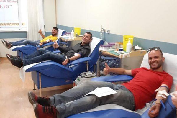 ΣΔΥ Πειραιά: 21η Εθελοντική αιμοδοσία