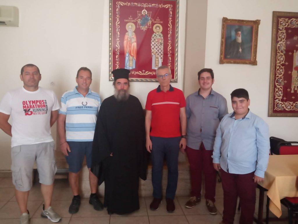 Η σύσκεψη για τον 6ο Αγώνα Δρόμου αλληλεγγύης, Ιερού Ναού Αγίου Χαραλάμπους Κατερίνης